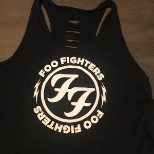 Foo fighters black and white tank